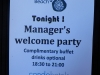 Manager Welcome party!
