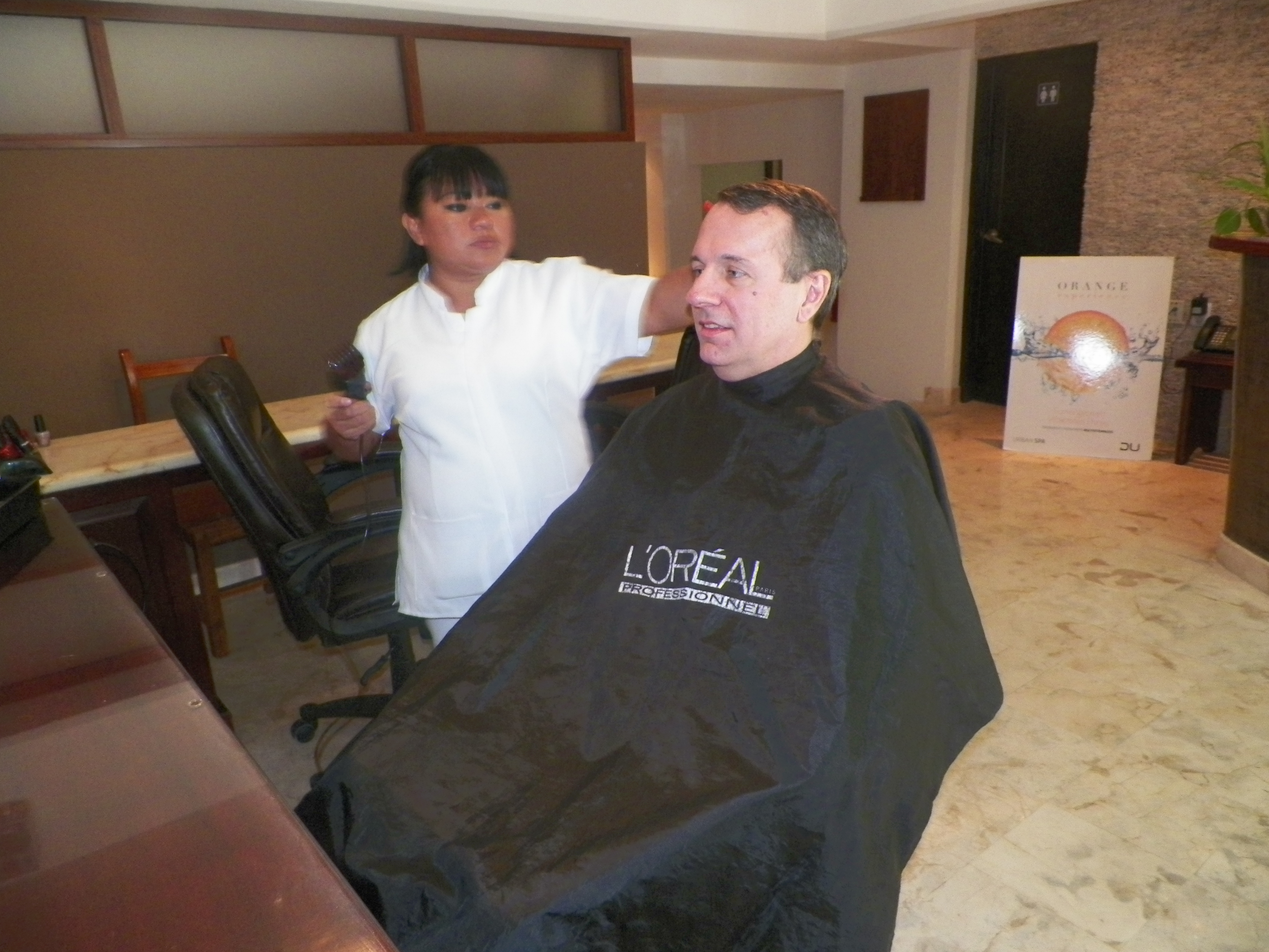 Haircut at Maya Spa, Playa del Carmen