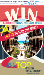 Condo Hotels Playa del Carmen Contest Steps 1