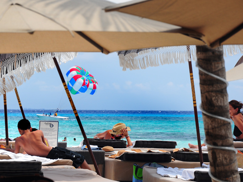 Our exclusive beach club! Playa del Carmen, Mexico