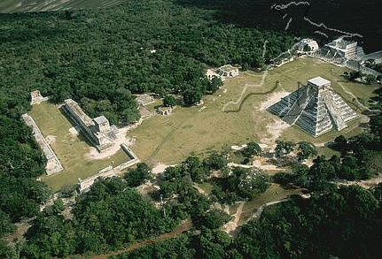 Chichen Itza Aerial View