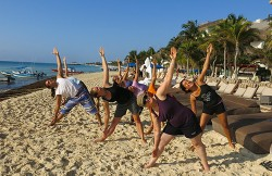 Yoga on the beach Playa del Carmen
