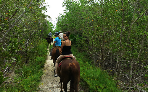 horse riding jungle in Playa del Carmen