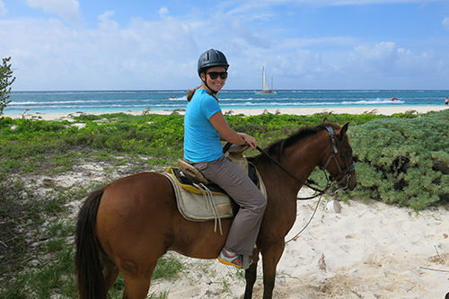 Horse riding on the beach in Playa del Carmen