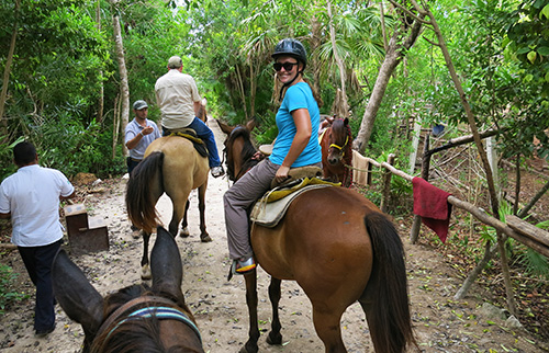 Happy horse riding in Playa del Carmen