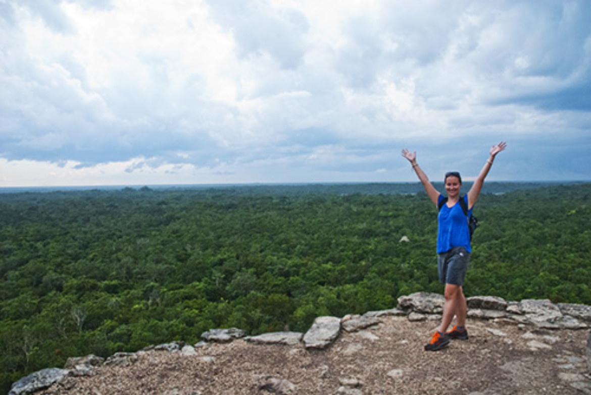 view from Coba pyramid
