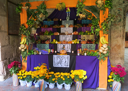 day of the dead altar lobby