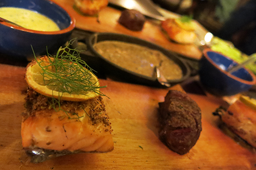 Salmon and Filet Mignon - Plank Condo Hotels Playa del Carmen