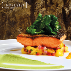 Salmon with Mango Sauce - Condo Hotels Playa del Carmen